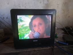 Tv Semp 14 polegadas, tela plana, de tubo.