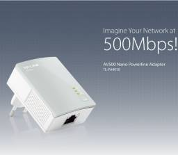 Tp-link Kit Powerline Ethernet 500mbps. Produto novo importado