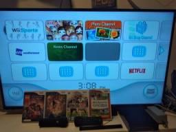 Nintendo Wii Video Game Seminovo Com Controle E Jogos