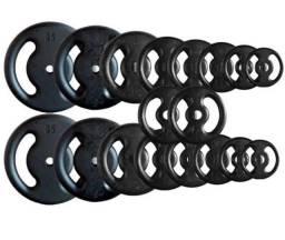 Anilhas De Ferro Pintada R$ 7,99 o kilo, treino, peso, musculação, academia