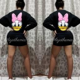 Blusão Moletom Personagens Disney Margarida Minnie