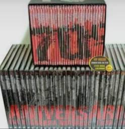 Coleção de dvd da II guerra mundial.