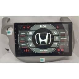 Central multimídia Honda Fit, espelhamento S300 Android