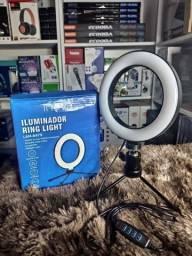 Iluminador Ring Led Light Tripé + Suporte Lam-8479 / Bj-20d