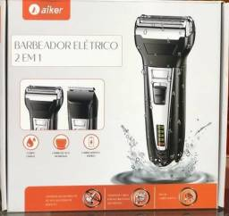 Barbeador elétrico 2 em 1 aiker(entrega grátis)<br>