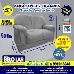 Sofá Fênix 2 Lugares Cinza, Compre no zap *