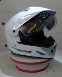 Capacete Motocross Th1 Vision Branco Tam 60 (Produto Novo)