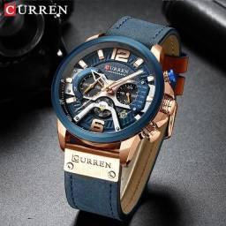 Relógio Masculino Funcional de Couro Curren Original