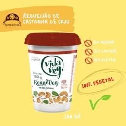Laticínios veganos a base de castanha de caju sem lactose, açúcar e glúten.
