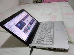 Notebook positivo core i3 HD 320 RAM 4GB teclado bom com carregador