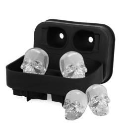 Título do anúncio: Forma de Gelo ou Chocolate de Silicone Caveira Skull 3 D