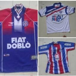 Camisas antigas do Bahia e Flamengo