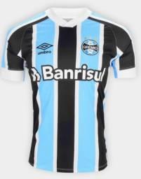 Camisa Tricolor do Grêmio 21/22 na Etiqueta nos tam M, G, GG, G2
