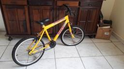Título do anúncio: Bicicleta Amarelo Semi-Nova