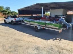Barco motor e carreta 17mil