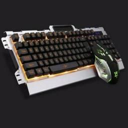 Teclado + Mouse Gamer Iluminado Marca Verde Jp-133