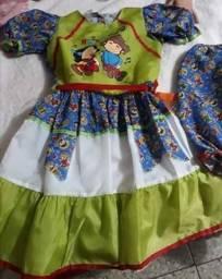 Vestido Caipira Festa Junina Tam 14