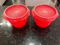 Jogo Tupperware 2 peças Vermelho