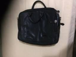 Bolsa feminina de mão, preta, couro, grande