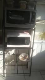 Forno microondas, Forno Eletrico e o suporte