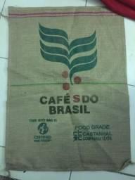 Saca saco café do Brasil juta