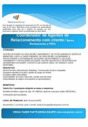 Coordenador de Agentes de Relacionamentos com Clientes - Bares. Restaurantes e PDVs