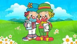 Painel de Festa Infantil Meninos Patati Patata Palhaço