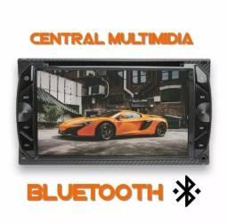 Valor já instalado Central Multimídia câmera de ré C/ Dvd Espelhamento atende chamada