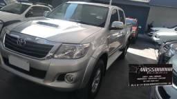 Toyota.Hillux 2014/2014 SR Diesel .Aut.Prata 4x4 - 2014