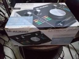 Placa de audio m audio m track aceito proposta
