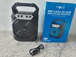 Mini Caixa De Som Portátil Amplificada Bluetooth Inova RAD-9029(NOVO)