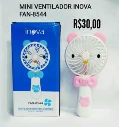Ventilador portátil, ventilador USB, ventilador de bolso, espelho com led e ventilador