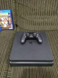 PS4 SLIM 1TB + 1 CONTROLE + 11 JOGOS