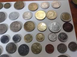 Coleção de moedas Brasil e aí exterior