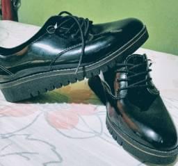Sapato Oxford Beira Rio, verniz preto