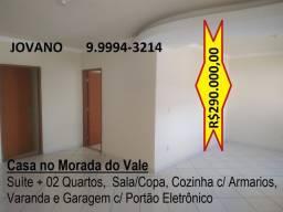 Casa Seminova no Morada do Vale - Suíte + 02 Quartos e Garagem
