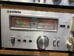 Tape deck gradiente cd-2600 vu color impecavel das antigas