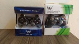 Controles de Xbox 360 e Playstation 3