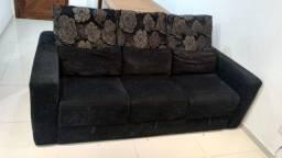 Sofá confortável com 3 assentos retráteis