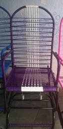 Lindíssima cadeira de balanço com molas