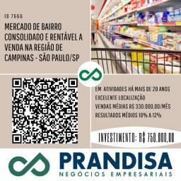 7666 Mercado de bairro, consolidado, a venda na região de Campinas - São Paulo SP