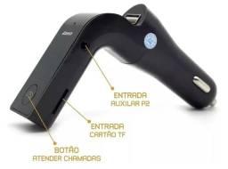 Transmissor FM Veicular CarG7 Conecte Celular Bluetooth Pendrive Cartão d3 Memória