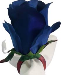 Porta guardanapo de rosa azul royal, as folhas. Produto artezanal!