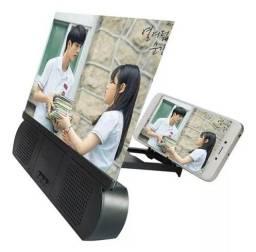 Promoção Ampliador C/Alto Falante Lupa Ampliadora 3D HD Tela Celular, Novo, Entregamos