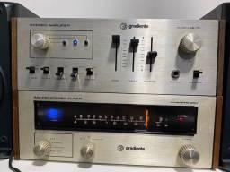 Amplificador e tuner gradiente das antigas em perfeito funcionamento