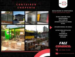 Container choperia - lanchonete - cervejaria - hamburguer