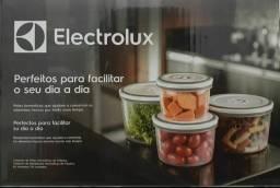 Conjunto de potes redondos de plástico com 4 unidades livres de bpa electrolux