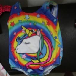 Vendo biquini e colant unicornio