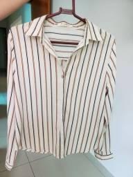 Camisa social em seda  P/M