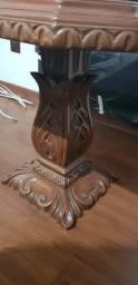 Mesa de canto em madeira - raridade